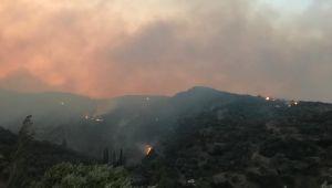 Söke'deki yangında tedbir amaçlı 50 ev tahliye edildi