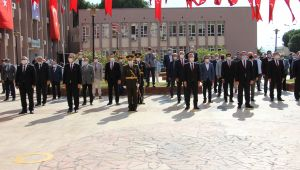 Aydın'da 29 Ekim kutlamaları çelenk koyma töreni başladı