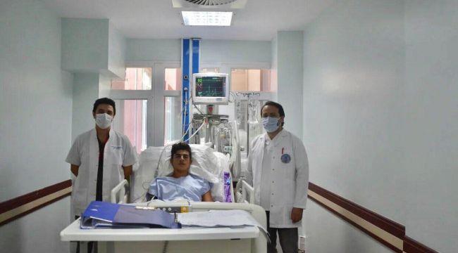 Elektrik akımına kapılan genç ADÜ'de sağlığına kavuştu