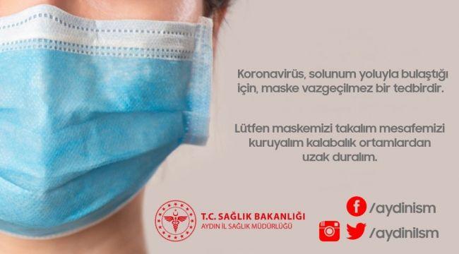 İl Sağlık Müdürlüğü'nden maske uyarısı