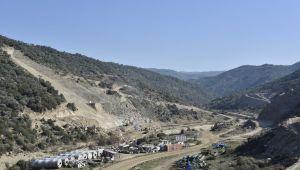 Sarıçay Barajı'nda inşaat çalışmaları devam ediyor