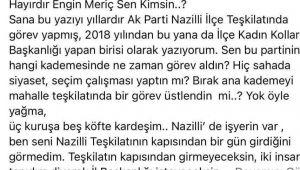 AK Parti Aydın'da çorap kavgası büyüyor