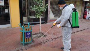 Büyükşehir Belediyesi'nden Nazilli'de dezenfekte çalışması
