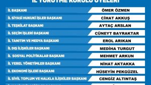 -AK Parti Aydın'da yürütme kurulu üyeleri belli oldu