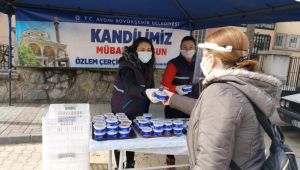 AydınBüyükşehir, Regaip Kandili için helva dağıttı