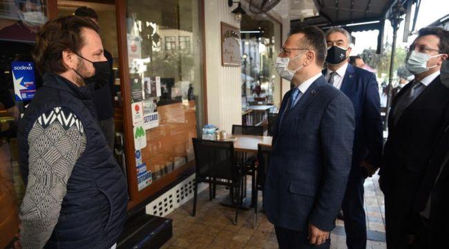 AydınValisi Hüseyin Aksoy, Efeler'de denetim gerçekleştirdi.