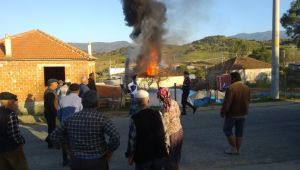 Karpuzlu'da ikamet yangını
