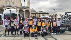 Aydınlı sağlıkçılar Cumhurbaşkanlığı Türkiye Bisiklet Turu'nda görev alıyor