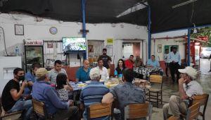 Aydın Büyükşehir bürokratları 'Büyükşehir Sahada' projesi kapsamında vatandaşları dinliyor