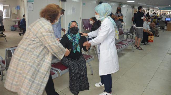 Atatürk Devlet Hastanesi'ndeki tatbikat gerçeği aratmadı